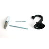 Garden Treasures 3.75-in Victorian Black Plant Hook