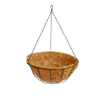Garden Treasures 6.25-in H x 14-in W x 14-in D Black Metal Outdoor Hanging Basket