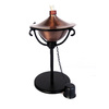 Garden Treasures 12-in Contemporary Copper Tabletop Citronella Torch