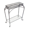 Garden Treasures Nottingham 30-in Black Rectangular Steel Plant Stand