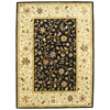 Bashian Ipswich 3-ft 9-in x 5-ft 9-in Rectangular Black Floral Area Rug