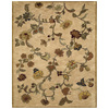 Bashian Ipswich 5-ft 6-in x 8-ft 6-in Rectangular Beige Floral Area Rug