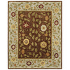 Bashian Ipswich 7-ft 9-in x 9-ft 9-in Rectangular Tan Floral Area Rug
