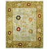 Bashian Ipswich 7-ft 9-in x 9-ft 9-in Rectangular Aqua Floral Area Rug