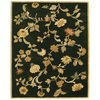 Bashian Ipswich 5-ft 6-in x 8-ft 6-in Rectangular Black Floral Area Rug