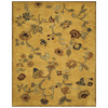 Bashian Ipswich 5-ft 6-in x 8-ft 6-in Rectangular Yellow Floral Area Rug