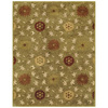 Bashian Ipswich 5-ft 6-in x 8-ft 6-in Rectangular Green Floral Area Rug