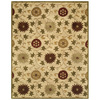 Bashian Ipswich 7-ft 9-in x 9-ft 9-in Rectangular Beige Floral Area Rug