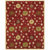 Bashian Ipswich 7-ft 9-in x 9-ft 9-in Rectangular Red Floral Area Rug