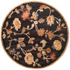 Bashian Ipswich 8-ft x 8-ft Round Black Floral Area Rug