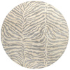 Bashian Charlton 6-ft x 6-ft Round White Transitional Area Rug