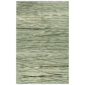 Bashian Charlton 3-ft 9-in x 5-ft 9-in Rectangular Aqua Transitional Area Rug