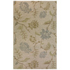 Bashian Stockport 5-ft x 8-ft Rectangular Beige Floral Area Rug