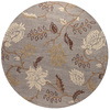 Bashian Stockport 6-ft Round Blue Floral Area Rug