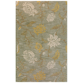 Bashian Stockport 3-ft 6-in x 5-ft 6-in Rectangular Green Floral Area Rug