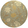 Bashian Stockport 6-ft Round Green Floral Area Rug