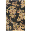 Bashian Stockport 5-ft x 8-ft Rectangular Black Floral Area Rug