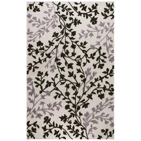 Bashian Portsmouth Rectangular Cream Transitional Tufted Wool Area Rug (Common: 9-ft x 12-ft; Actual: 8.5-ft x 11.5-ft)