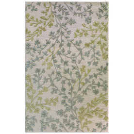 Bashian Portsmouth Rectangular Cream Transitional Tufted Wool Area Rug (Common: 4-ft x 6-ft; Actual: 3.5-ft x 5.5-ft)