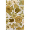 Bashian Portsmouth Rectangular Cream Transitional Tufted Wool Area Rug (Common: 5-ft x 8-ft; Actual: 5-ft x 8-ft)
