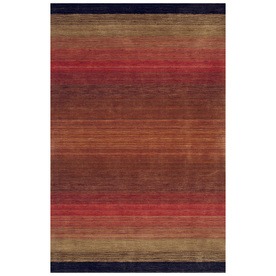 Bashian Fulham 3-ft 6-in x 5-ft 6-in Rectangular Red Geometric Area Rug