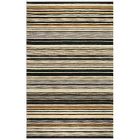 Bashian Fulham Rectangular Gray Geometric Hand-Loomed Wool Area Rug (Common: 5-ft x 8-ft; Actual: 5-ft x 8-ft)