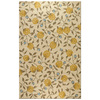 Bashian Stockport Rectangular Cream Floral Tufted Wool Area Rug (Common: 9-ft x 12-ft; Actual: 8.5-ft x 11.5-ft)