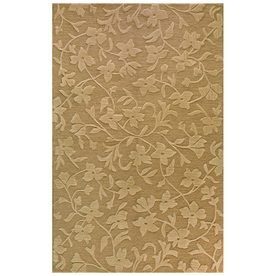 Bashian Portsmouth Rectangular Brown Transitional Tufted Wool Area Rug (Common: 9-ft x 12-ft; Actual: 8.5-ft x 11.5-ft)