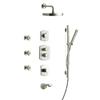 LaToscana Novello Brushed Nickel 3-Handle WaterSense Bathtub and Shower Faucet with Rain Showerhead