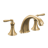 KOHLER Devonshire Vibrant Brushed Bronze 2-Handle Fixed Deck Mount Tub Faucet