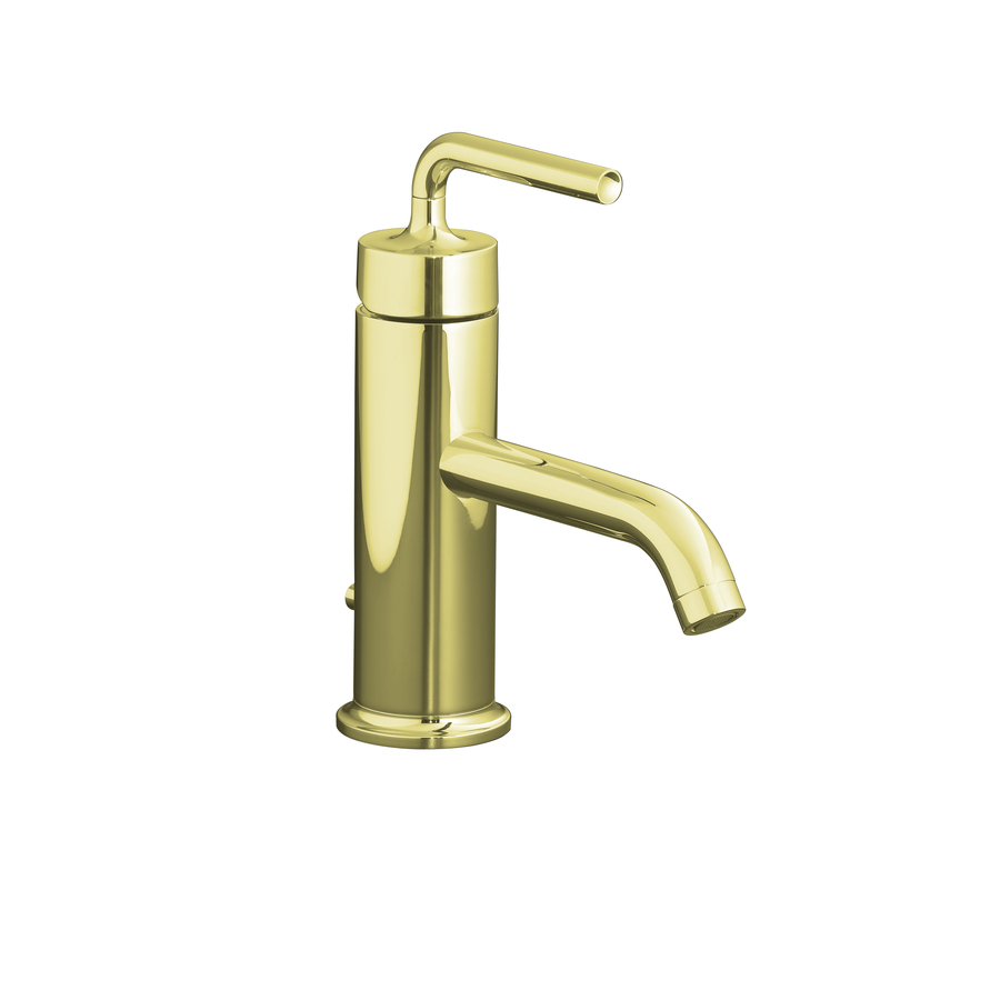 Shop Kohler Purist Vibrant French Gold 1 Handle Single Hole Watersense Bathroom Sink Faucet