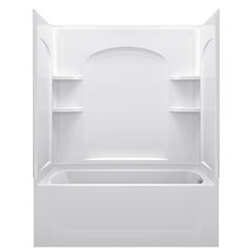 Shop Sterling Ensemble AFD White Vikrell Wall And Floor 4 Piece Alcove Shower
