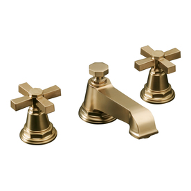 KOHLER Pinstripe Vibrant Brushed Bronze 2-Handle Widespread WaterSense Bathroom Sink Faucet