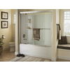Sterling Ensemble White Vikrell Rectangular Skirted Bathtub with Left-Hand Drain (Common: 32-in x 60-in; Actual: 18-in x 32-in x 60-in)