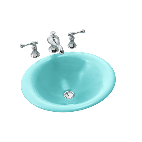 Kohler Cast Iron Vessel Sink in Pink & Turquoise from Lowes Sinks ...