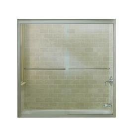 KOHLER 59-5/8-in W x 58-3/8-in H Matte Nickel Frameless Bathtub Door