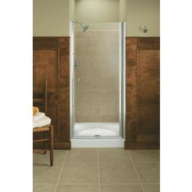 KOHLER 36-1/2-in Frameless Pivot Shower Door