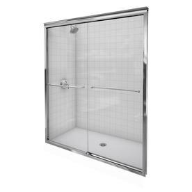 KOHLER Fluence 44-in to 47-in W x 70-in H Frameless Sliding Shower Door