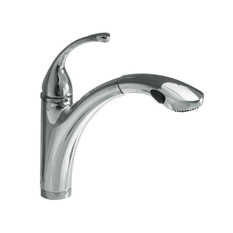 KOHLER Forte Polished Chrome Pull Out Kitchen Faucet