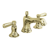 KOHLER Bancroft Vibrant French Gold 2-Handle Widespread WaterSense Bathroom Sink Faucet (Drain Included)