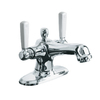 KOHLER Bancroft Polished Chrome 2-Handle Single Hole Bathroom Faucet (Drain Included)