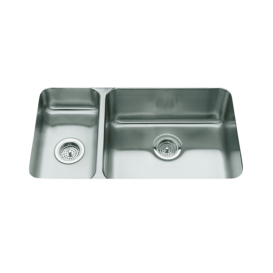 Kohler Undermount Stainless Steel Double Sink : ... in Stainless Steel Double-Basin Undermount Kitchen Sink at Lowes.com