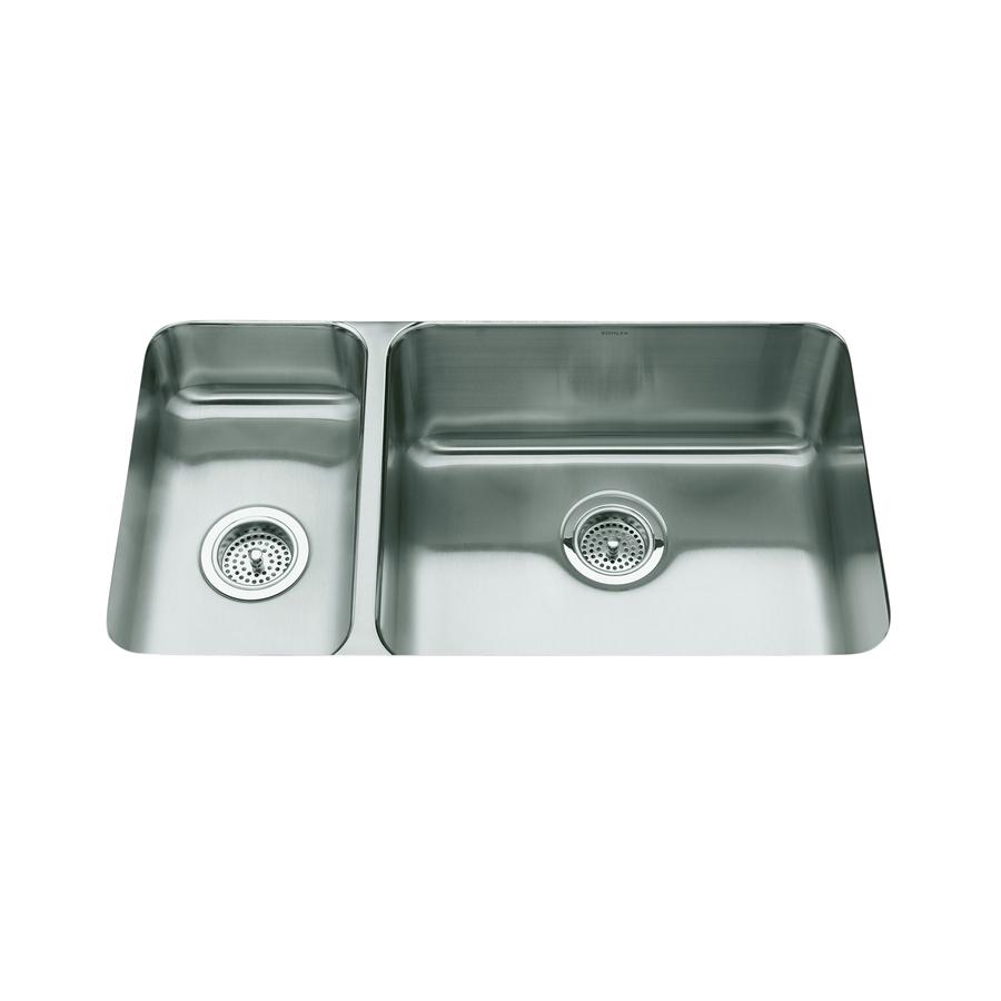 Kohler Undermount Stainless Steel Kitchen Sinks : ... in Stainless Steel Double-Basin Undermount Kitchen Sink at Lowes.com