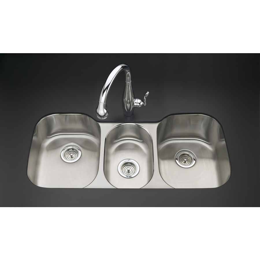 Triple Stainless Steel Sink : ... Triple-Basin Undermount Stainless Steel Kitchen Sink at Lowes.com