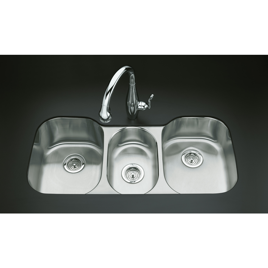 Triple Basin Sink : ... Triple-Basin Undermount Stainless Steel Kitchen Sink at Lowes.com