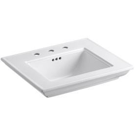 KOHLER 24-1/2-in L x 20-1/2-in W Memoirs White Fire Clay Rectangular Pedestal Sink Top