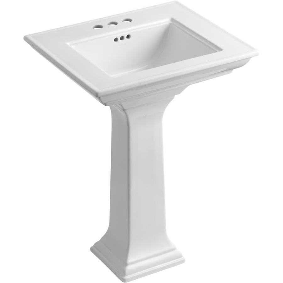 Shop KOHLER Memoirs 34.75-in H White Fire Clay Complete Pedestal Sink ...