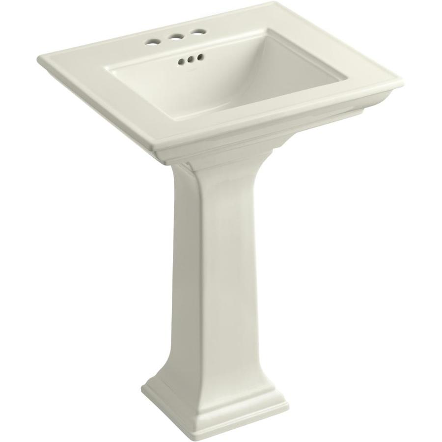 ... 34.75-in H Biscuit Fire Clay Complete Pedestal Sink at Lowes.com