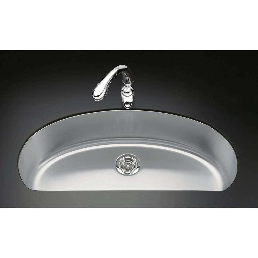 Shop Kohler Undertone Stainless Steel Single Basin Undermount Kitchen Sink At