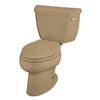KOHLER Wellworth Mexican Sand Elongated Toilet